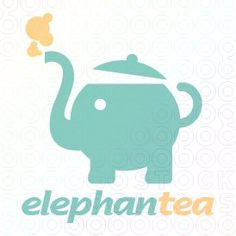 Cute comparison between an elephant and a teapot. This is again a very simple logo but very effective. We know right away what the logo is for