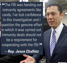 Immunity for cooperating with the FBI!? How convenient for Hillary and her Minions.