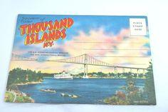 Post cards Booklet Thousand Island 1940 Vintage Pictures Post Card Paper Ephemera #vintage