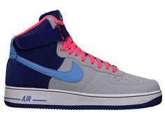 best cheap c1044 5f506 Nike Air Force 1 High - Wolf Grey - Deep Royal Blue - SneakerNews.com