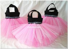 Set of 8 Wild About Pink Party Favor Tutu Bags. $76.00, via Etsy.