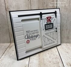 Stampin' Up! Sliding Barn Door Card | Stamps – n - Lingers