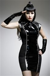 Fabulous and sexy new dress from Purpur fashion! also available in red trim http://www.katesclothing.co.uk/Purpur-Black-and-White-PVC-Military-Dress-p/alttc2w.htm