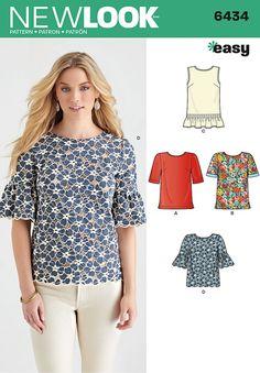 6434 - Tops | Vests | Jackets | Coats - New Look Patterns