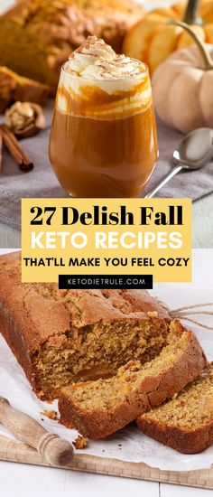 27 delicious and cozy keto recipes to celebrate fall and the holiday season. Looking for some healthy, delicious keto fall recipes? Here are 27 easy keto recipes for a cozy weeknight dinner . From pumpkin soups to. Healthy Low Carb Recipes, Low Carb Dinner Recipes, Ketogenic Recipes, Keto Recipes, Ketogenic Diet, Breakfast Recipes, Ketogenic Breakfast, Fall Dinner Recipes, Protein Recipes