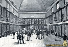 Museo Nacional de Antropologia. Madrid, 1875. Iustracion grabado, del interior.