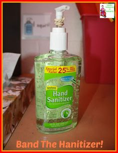 Use a rubber band wrapped around the pump on soap or sanitizer to limit the amount that comes out of the bottle!