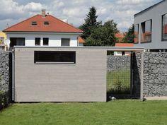 Velmi moderní zahradní domek NATURHOUSE S9 - 4x2,5 m. Domek je vyroben z palubkových prken, natřený lazurovacím lakem v odstínu Wassergrau.