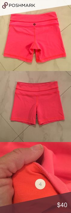 Lululemon Awesome color Shorts Size 4 love these lulu shorts!!! lululemon athletica Shorts