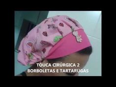 COMO FAZER UMA TOUCA DE COZINHEIRA OU CIRÚRGICA - YouTube Scrub Hats, Hat Hairstyles, Patch Quilt, Christmas Projects, Baby Dress, Sewing Projects, Patches, Baseball Hats, Hair Accessories