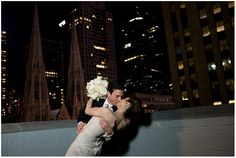 #Beautiful shot of this couple on the Solarium terrace overlooking St. Patrick's Cathedral. www.3westclub.com http://www.stefyhilmerphotography.com/ #Manhattan #nyc