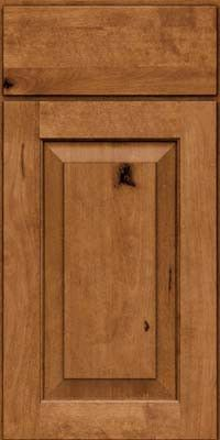 KraftMaid Cabinets -Square Raised Panel - Solid (DAB) Rustic Birch in Rye from waybuild