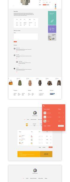 Market is an elegant online store solution on Behance Ux Design, Page Design, Layout Design, Ui Color, Ecommerce Web Design, Creative Industries, Material Design, Store Design, User Interface