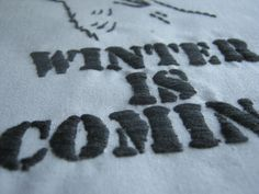Game of Thrones Needlework Project....