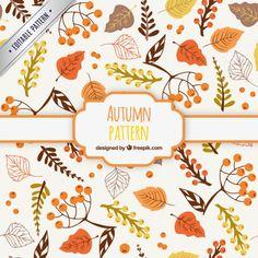 手描き秋のパターン 無料ベクター