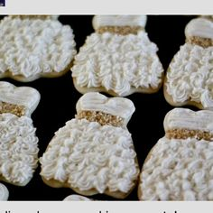 ✿~ ALL THINGS {WHITE} `✿⊱╮    **cute bridal shower cookies**