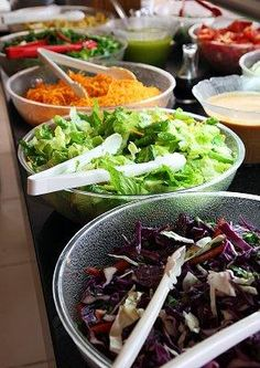Salad Bar - Ideas for the Buffet at a Wedding Reception [Slideshow]