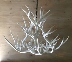Antler Chandelier Solid White by Stagridge on Etsy