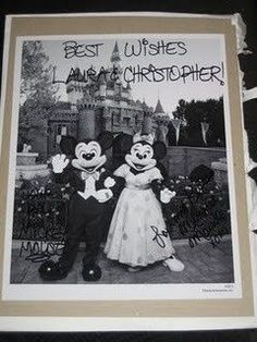 Did you know that if you send Mickey and Minnie Mouse an invitation to your wedding theyll send you back an autographed photo and a Just Married button? Also, if you send Cinderella and Prince Charming an invitation, youll get an autographed congratulatory certificate. Here are the addresses: Mickey Minnie / The Walt Disney Company / 500 South Buena Vista Street / Burbank, California 91521 Cinderella and Prince Charming / P.O. Box 1000 / Lake Buena Vista,