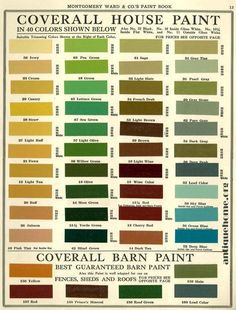 https://flic.kr/p/dL2ydm   Montgomery Wards: Bungalow Housepaints   1915 Color Scheme Collection::Photos from Today I've collected images of Bungalows and other historic home types such as Foursquares  and grouped them into sets. These are pictures of the houses as they look currently. I hope that you will find some exterior paint color ideas that inspire you. Blue Schemes Yellow Schemes Brown Schemes Green Schemes Red Schemes  If you want still more colour inspiration,  I have another set…