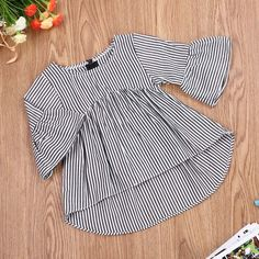 US Christmas Toddler Kids Baby Girls Striped Dress Long Sleeve Outfits Clothes, , Baby Girl Fashion, Stylish Dresses For Girls, Kids Outfits Girls, Toddler Girl Dresses, Little Girl Dresses, Girl Outfits, Girls Dresses, Fashion Outfits, Kids Dress Wear, Mode Abaya