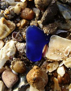 The feeling you get when you look down and see that piece of blue beach glass...priceless!