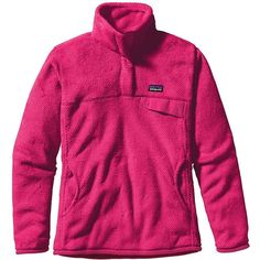 Patagonia Women's Re-Tool Snap-T Pullover ($92) ❤ liked on Polyvore featuring patagonia