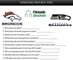 Super Bowl Sunday is an unofficial holiday in America and Super Bowl prop bets have exploded in popularity. Click here for a free Super Bowl prop bets sheet