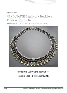 MINDU KATE SuperDuo Beadwork Necklace Pdf tutorial instructions for personal use only via Etsy