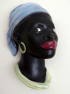Beswick Wall Mask in Female African Lady with headdress~C1930~Stunning | eBay