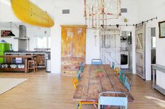 This fantastic surf-themed 1-story barn with ocean views is just 5 minutes' drive from Zuma Beach and is packed with characterful items, including a rare Laird Hamilton paddleboard. It sleeps up to 8 + 1