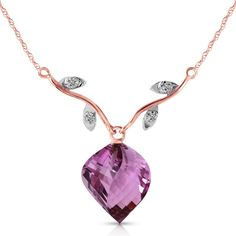 Buy online, view images and see past prices for Genuine 10.77 ctw Amethyst & Diamond Necklace Jewelry 14KT Rose Gold - REF-40P5H. Invaluable is the world's largest marketplace for art, antiques, and collectibles.