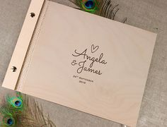 Wooden Wedding Guest Book / Photo Album Rustic with Laser Engraved Names Wooden Wedding Guest Book, Wedding Keepsakes, Beautiful Moments, Laser Engraving, Our Wedding, Etsy, Bride, Book Covers, Albums