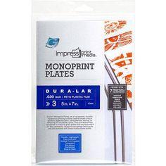 Impress Monoprint Plates, 3pk, 5 inch x 7 inch, Blue