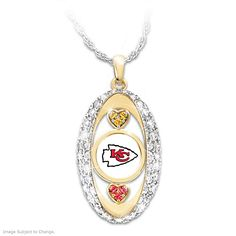 For The Love Of The Game Chiefs Pendant Necklace