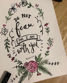 """24.1k Likes, 141 Comments - Bubz (@itsbubz) on Instagram: """"Tonight's quick doodle of one of my favourite verses #isaiah4110 #lettering #calligraphy"""""""