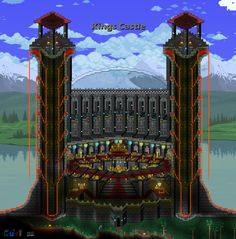 Terraria House Design, Terraria House Ideas, Terraria Tips, Cool Minecraft, Minecraft Buildings, Cool Backgrounds, Biomes, Best Games, Pixel Art