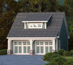 craftman style garage | Craftsman Style Det Garage Cabin & Lodge Garage - #ALP-09Z2 ...
