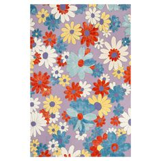 Hand-hooked wool rug with a floral motif.    Product: RugConstruction Material: Wool and viscoseColor...