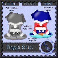 Penguin Script [Designs by seve] - $3.00 : LowBudgetScrapping