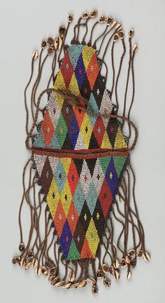 Beaded bag   African, Kirdi peoples, Northern Cameroon, late 20th century  Dimensions Overall: 25.5 x 17 cm