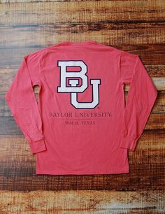 Do you love Baylor University? Well show that love with this fun BU long sleeve watermelon Comfort Color t-shirt. Go Bears!!