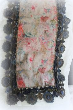 all wool Sophie Digard scarf