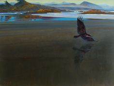 """'West Coast Trickster' 36"""" x 48"""" Oil on Canvas by BC artist Brent Lynch"""