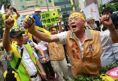 Anti-nuclear protesters in Taiwan rallying outside parliament as opposition politicians inside tried to block a vote to authorise a referendum on allowing a fourth nuclear plant to be built on the earthquake-prone Taiwan island.
