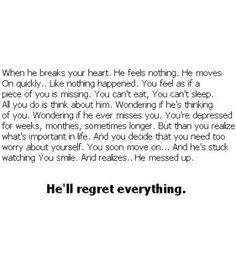 Breakup quote - Click image to find more Other Pinterest pins