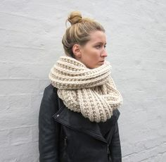 A knitted scarf.