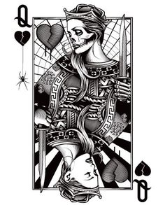 king card vector art monochrome tattoo - Google Search