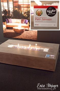 Spotted by @PJohnsonInt in the EcoSmart Fire Showroom IHFC IH203 Indoor & Outdoor Fireplace design by Brown Jordan. EcoSmart Fire's eco-friendly advanced burner technology can be used both indoors and out. The bioethanol burners are designed with safety in mind. Enhances the ambiance of any living space, inside-out.  #Fireplace #outdoorfurniture #ecofriendly #HPMKTss #luxury #modern #transitional #table. High Point Market Style Spotter Spring 2015. Photo uploaded by user Patti Johnson…