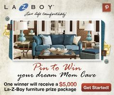 Pin this image along with 5 other La-Z-Boy products to your #momcave board for a chance to win your dream #momcave!